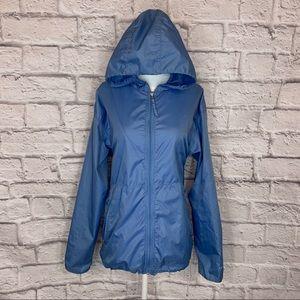 Nike Solid Blue Windbreaker Zip up Jacket